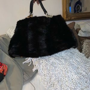 Paolo Masi Purse 100% Mink Fur lightly used
